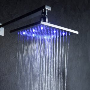 Detroit Bathware Y8975 10 - Inch LED Temperature Sensitive Showerhead
