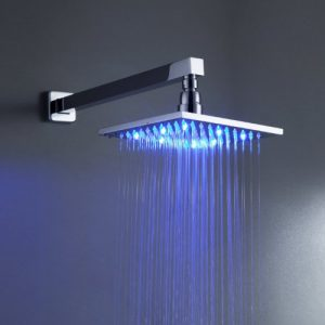"Detroit Bathware Y96980 8"" LED Rainfall Mixer Showerhead"