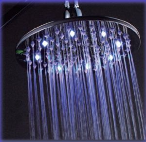 "Detroit Bathware Ys-1694 8"" LED Brass Temperature Showerhead"