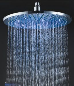 Detroit Bathware Ys-1729 12-Inch LED Temperature Sensitive Showerhead