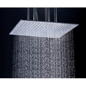 "Detroit Bathware Ys-1739 20"" LED Temperature Sensitive Showerhead"