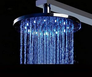 Hai Lighting Luxury 10 Inch Temperature 3 Color LED Showerheads
