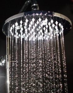 Hai Lighting Noble 8 Inch Rainbow Discoloration LED Showerheads