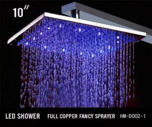 Hai Lighting Quality RGB Vogue 10 Inch Showerheads