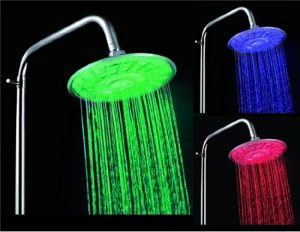 HUMPS 30A3 3-Color Changing 8-LED Showerhead