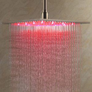 Lightinthebox 12 Inch LED Light Stainless Steel Rainfall Showerhead