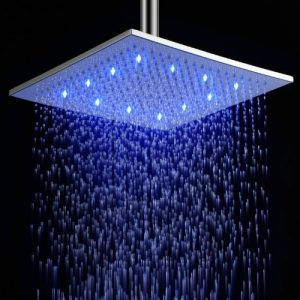 LightInTheBox 12 Inch Wall Mount LED Color Changing Chrome Brass Showerhead