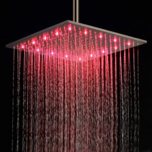 Lightinthebox 16 Inch LED Light Stainless Steel Showerhead 172072ff