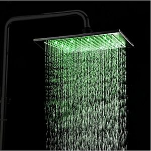 Rozin 12 Inch LED Light Oil Rubbed Rainfall Showerhead