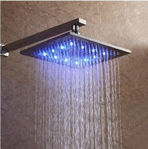Rozinsanitary 10 Inch LED Color Changing Brass Showerhead