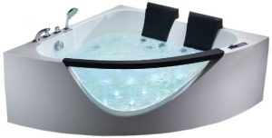 ALFI AM199HO Modern Whirlpool Bath Tub with Fixtures