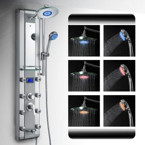 akdy 5333d aluminum rain style led shower panel azv5333d