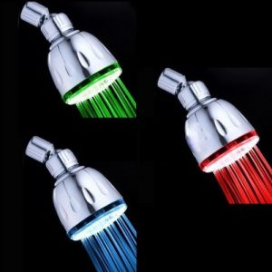 zorpia led color changing showerhead