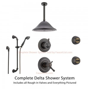 delta faucet thermostatic venetian bronze showerhead ss17t9795rb