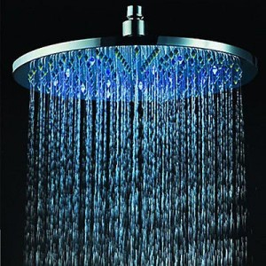 fixed showerheads 8 inch led light stainless rain showerhead ak 7383