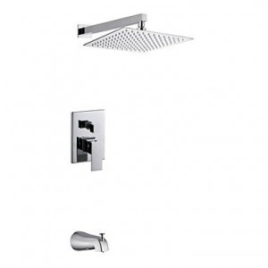 shower faucets 10 inch double wall mount showerhead b00omnwh0c