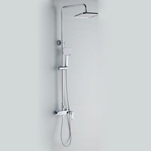 bathroom faucets contemporary style chrome finish wall mounted with 20cm diameter b0141xohnm