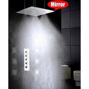 bathroom shower 20 inch atomizing and rainfall with 6 pcs big spa massage spray b0141vfcqk