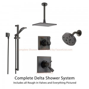 Delta Faucet Dryden Thermostatic Rain Showerhead SS17T5193RB