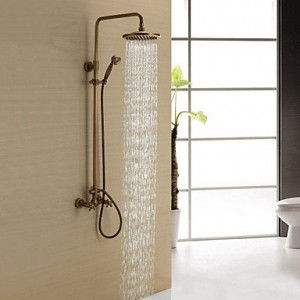 bathroom faucets 8 inch antique brass showerhead b0141v64t4