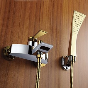 bathroom faucets modern widespread golden handshower b0141vajuo