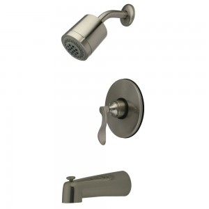 kingston brass satin nickel tub shower kb6698dfl