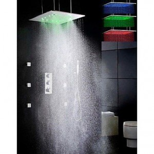 qin linyulongtou 20 inch temperature sensitive led showerhead b014ngup06