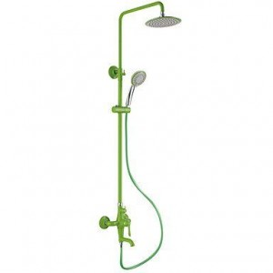 wckdjb contemporary green painting showerhead b015dmdveq