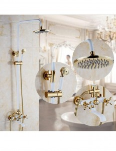 duluda 8 inch wall mount brass rain shower oydh 015
