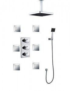 faucetshower 5464 concealed bathroom thermostatic rainfall 6 pcs of jet spray massage b015f63jgu