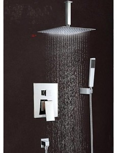 faucetshower 5464 wall mounted 12 inch square bathroom mixer taps b015f5vk62