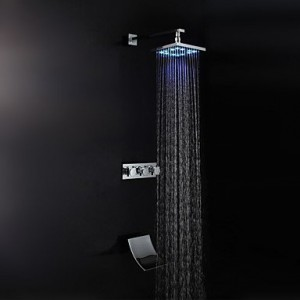 lei liping modern style chrome finish waterfall led wall mount b015h59o2c