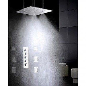 luci 20 inch brushed atomizing rainfall showerhead b015h8l4cm