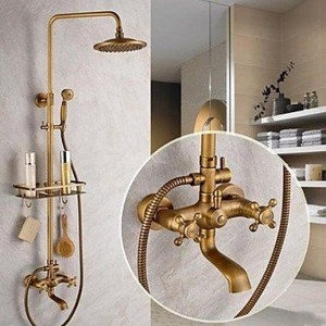 luci 8 inch antique brass tub hand shower b015h8c336