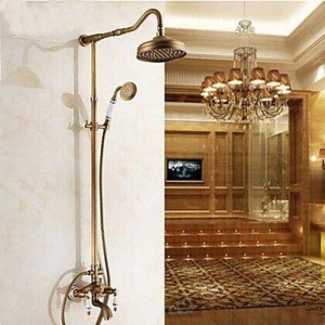 luci 8 inch two handles antique brass handshower b015h8cbo2