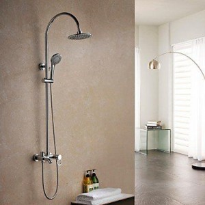 luci contemporary brass chrome rain shower b015h8aqgm