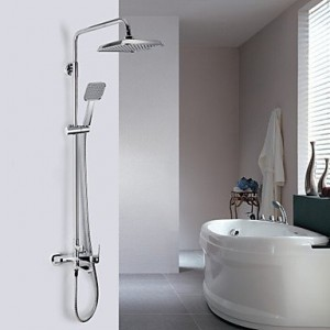 luci contemporary chrome finish a grade abs wall mount shower b015h8l9wc