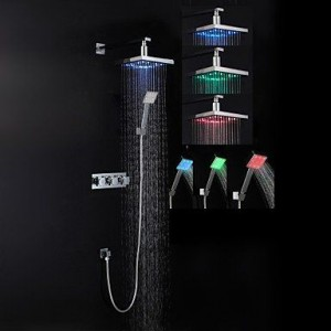 luci led brass chrome rain handshower b015h93wqw