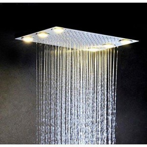 luci led stainless rainfall showerhead b015h8bqfc