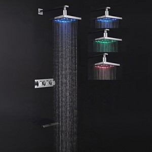 modern style chrome finish led wall mount shower faucet b013wu3vgo