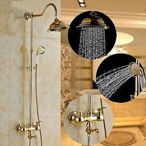 qin linyulongtou 2 handles wall mount rain shower b013wu58qa