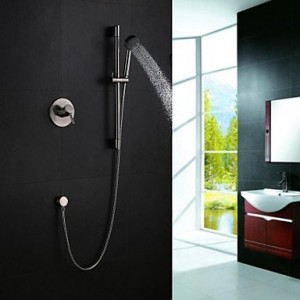 wckggd contemporary handshower included brass nickel brushed b015dmg6f2