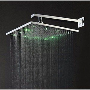 xzl 12 inch led brass rainfall showerhead b015h86mxs