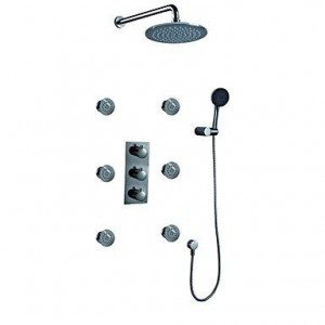 xzl 8 inch thermostatic rainfall handshower b015h88c9a