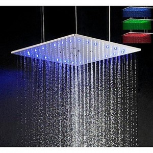 xzl led 3 colors 20 inch ceiling mounted showerhead b015h7zhqc