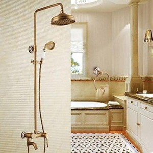 guoxian antique brass tub shower faucet with 8 inch b013vx86te