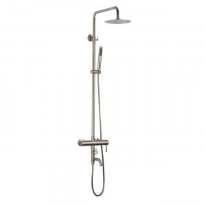homedec luxury brushed rain showerhead hd 89005