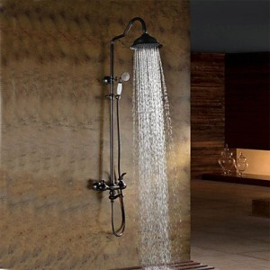 qin linyulongtou oil rubbed bronze wall mounted waterfall rain handheld b013wuje8i