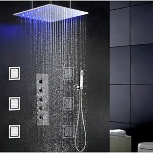 qin linyulongtou swash and rainfall bathroom led shower faucet b013wudkg0