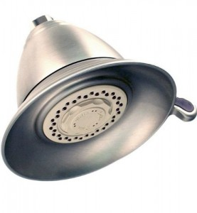delta faucet victorian brushed nickel rain showerhead